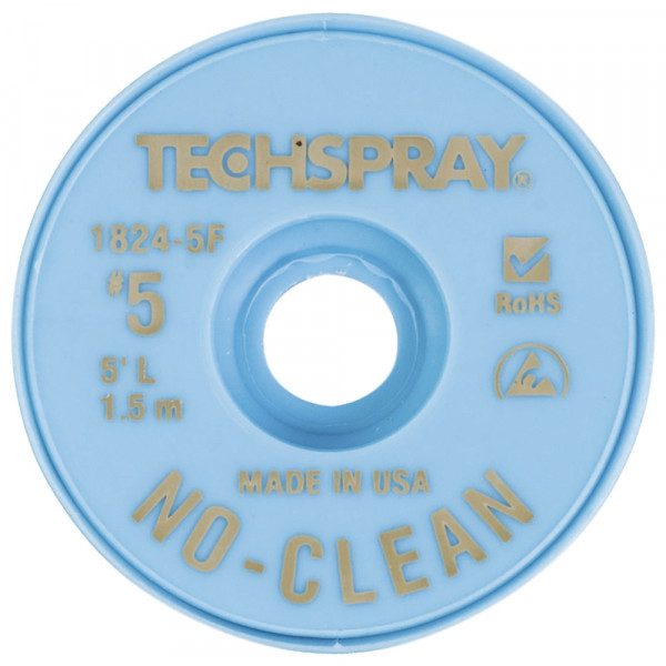 Techspray No-Clean Entlötlitze, 3,3 mm, 1,5 m, braun